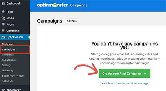 Create OM campaign
