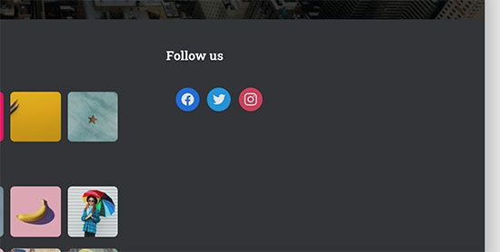 Social icons preview