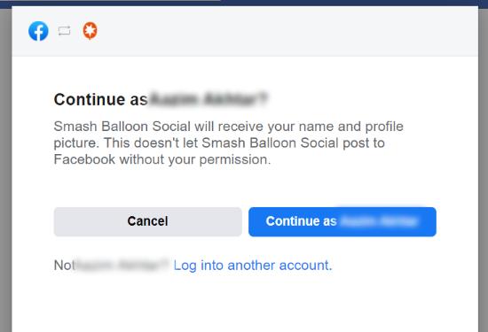 Link Facebook profile with Smash Balloon