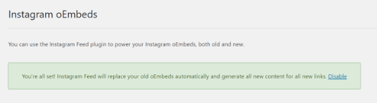Instagram feed will replace oEmbeds