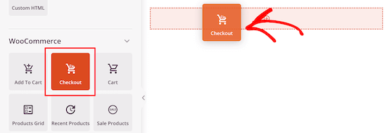 Add checkout block