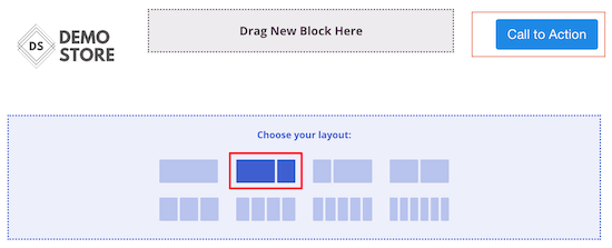 Select two column layout