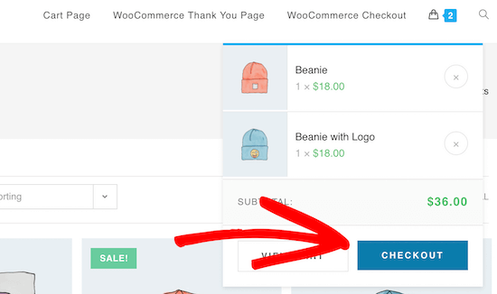 Direct to checkout example