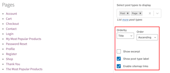 Customize sitemap order and appearance