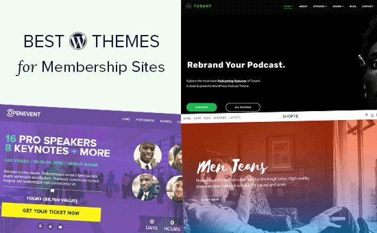 Design and templates for membership websites